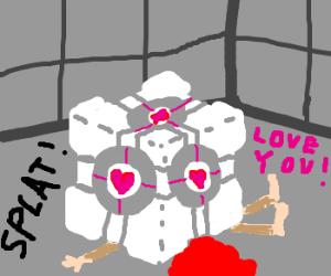 The companion cube killed you!