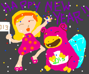 """""""Happy New Year! 2013, here we come!"""" -Slowbro"""