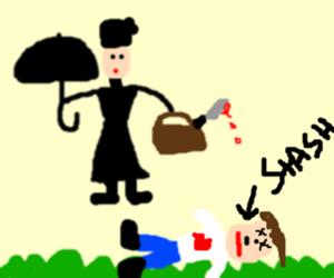 Mary Poppins kills someone, has Hitler stache
