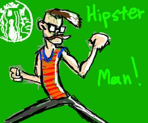 Starbucks lovin hipster man