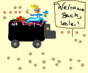 Hey, leilei's back! Welcome back, leilei!