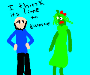 Guy breaks up with his string bean wife