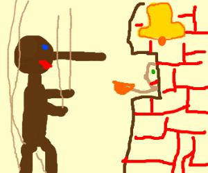 Pinnochio telling lies at Taco Bell
