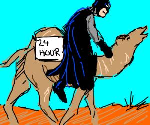 Batman's 24-hour charity camel race.