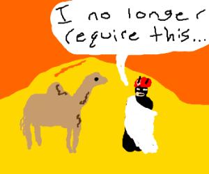 Batman gives away his camel