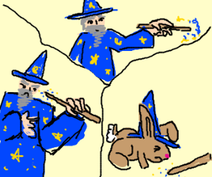 Wizard accidentally turns himself into bunny