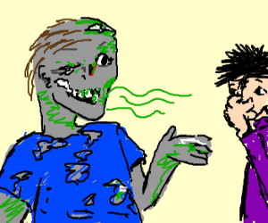 zombie with bad breath