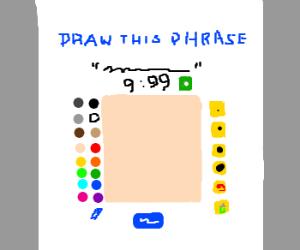 Drawception game screen