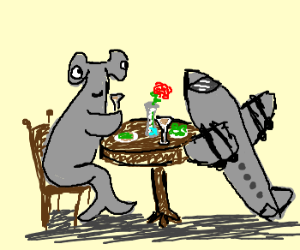 Hammer Head on a date with Airplane