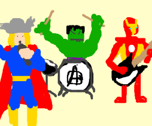 The Avengers start their own band