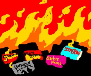 Where bad comics burn