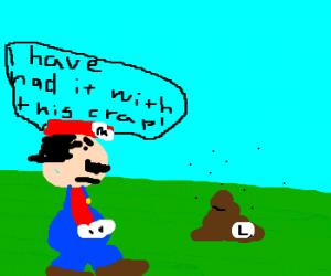 Mario has had enough of Luigi's crap