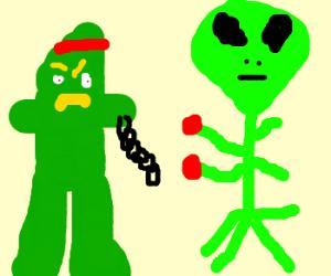 Gumby vs aliens