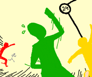 You are Green Guy, in a race to panel 24. Go!