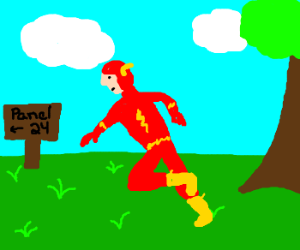 The Flash makes a beeline for Panel 24