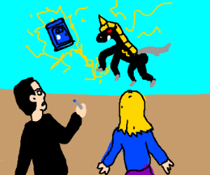 Super Lightning Horse steals the Tardis