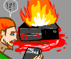 Man destroys X-Box One buy inserting used game