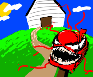 """A demon mailbox named """"Carnage"""""""