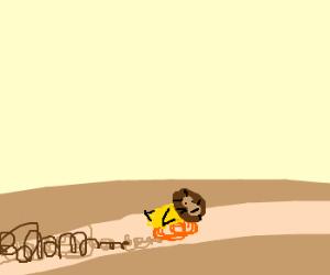 Chick-Lion running like Roadrunner