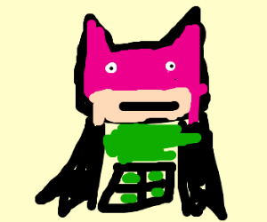 On Friday's Batman wears pink and green