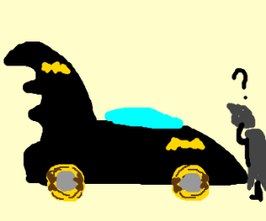 Batman's pit crew uses bananas for tires.
