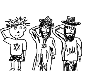 Calvin joins the Jewish Scouts
