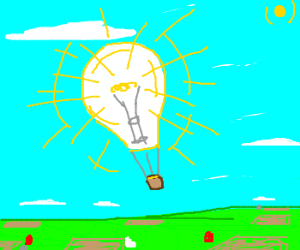 Bright Hot Air Balloon!