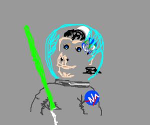 Who gave the NASA monkeys a lightsaber?
