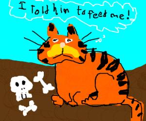 Garfield eats Jon
