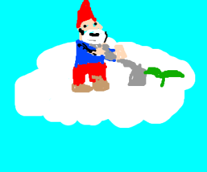 garden(ing) gnomes in the clouds