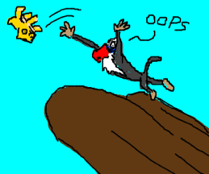 "Rafiki drops Simba off Pride Rock ""oops"""