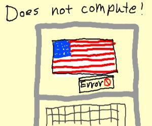 Computer can't run America
