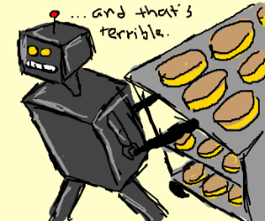 Boxbot steals forty cakes.