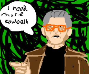 Bruce demands more cowbell from Gene Frenkle