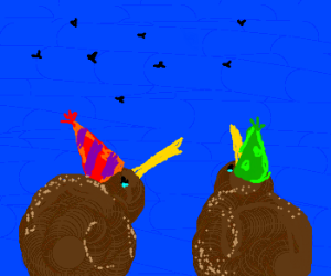 Kiwi's throw a flightless party