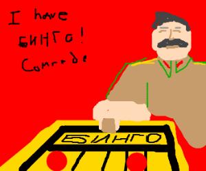 Stalin playing Bingo