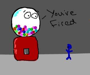 Gumball Machine Fires Blue Man
