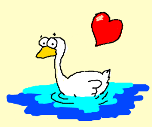 None shall know of our love, faithful swan...