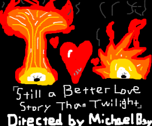 Michael Bay directs love story of 2 explosions