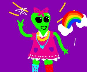 The most kawaii-desu alien you ever have seen.