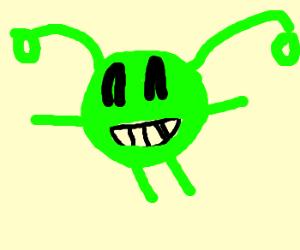 Happy goofy alien head
