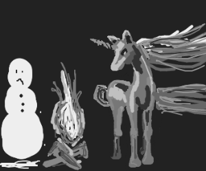 Charlie the unicorn needs to help with snowman
