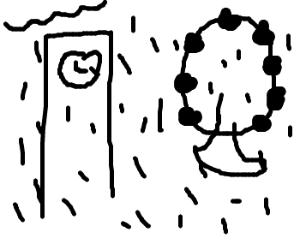 The raining London