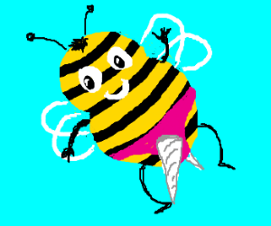 Bee stole my unicorn pants