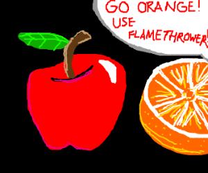 Apple vs. Orange: FAIL
