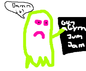 neon ghosts can't spell Jim