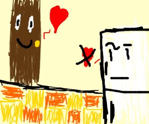 Door in love w/ a fridge, feeling isn't mutual