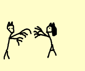 Catman attacks Catwoman with Wolverine claws.