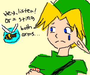 Bee Navi can sting if Link doesn't listen.