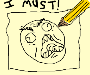 Rage face must draw
